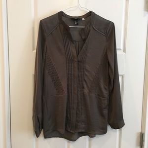H&M   silky satin blouse